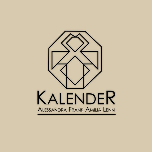 "Modern logo for a family name ""Kalender"""
