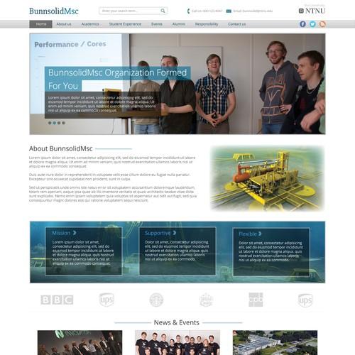 simple, clean & elegant student organization site