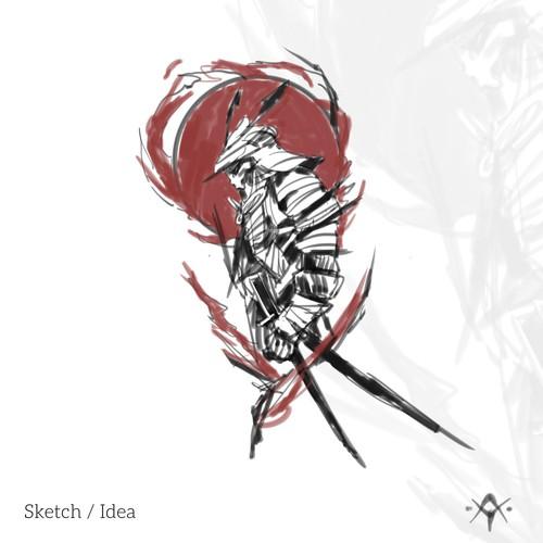 Samurai Tattoo Design
