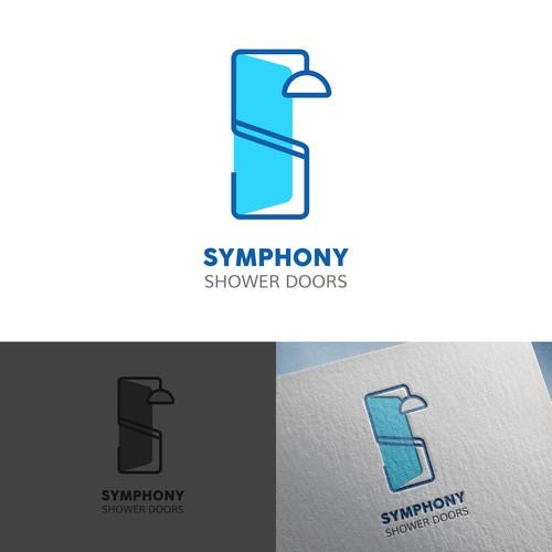 Symphony Shower Doors Logo Design