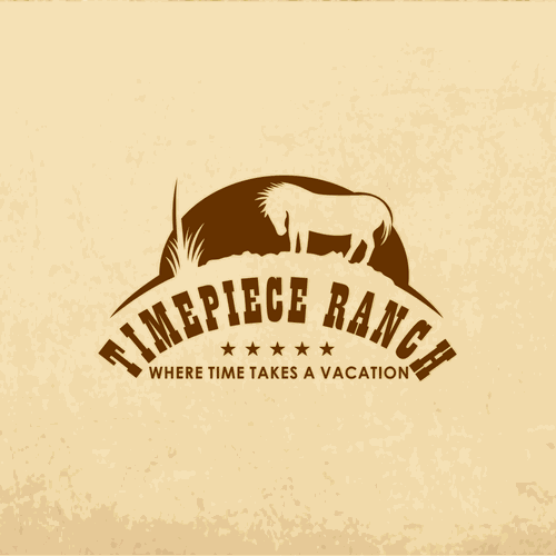Design a resort logo for a cool western ranch retreat