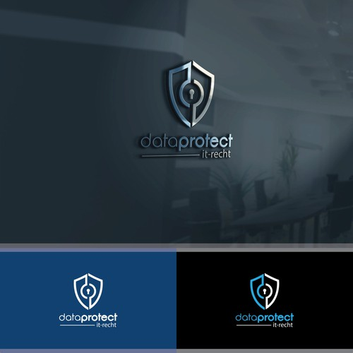Bold and professional logo concept for dataprotect
