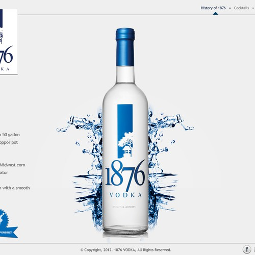 1876 Vodka Website Homepage design