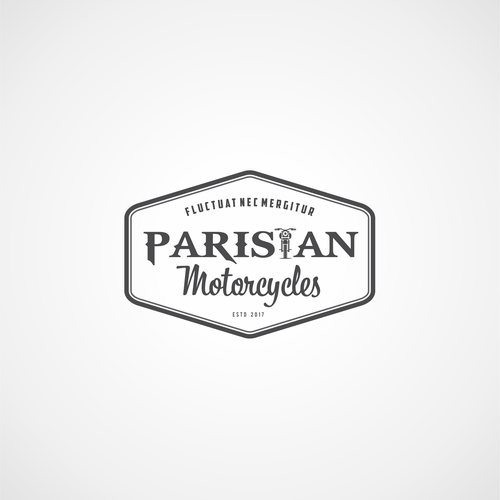 Classic Logo for Parisian Motorcylces