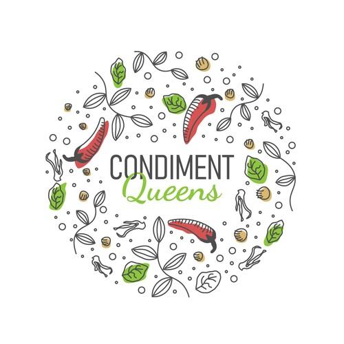 Condiment Queens Logo