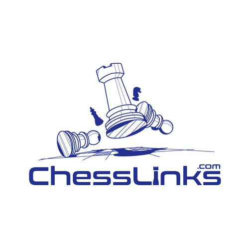Fun and modern logo for a Chess Website