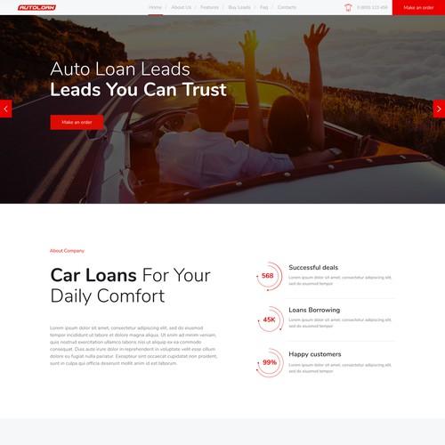 Website Design For Auto Loan Leads Company