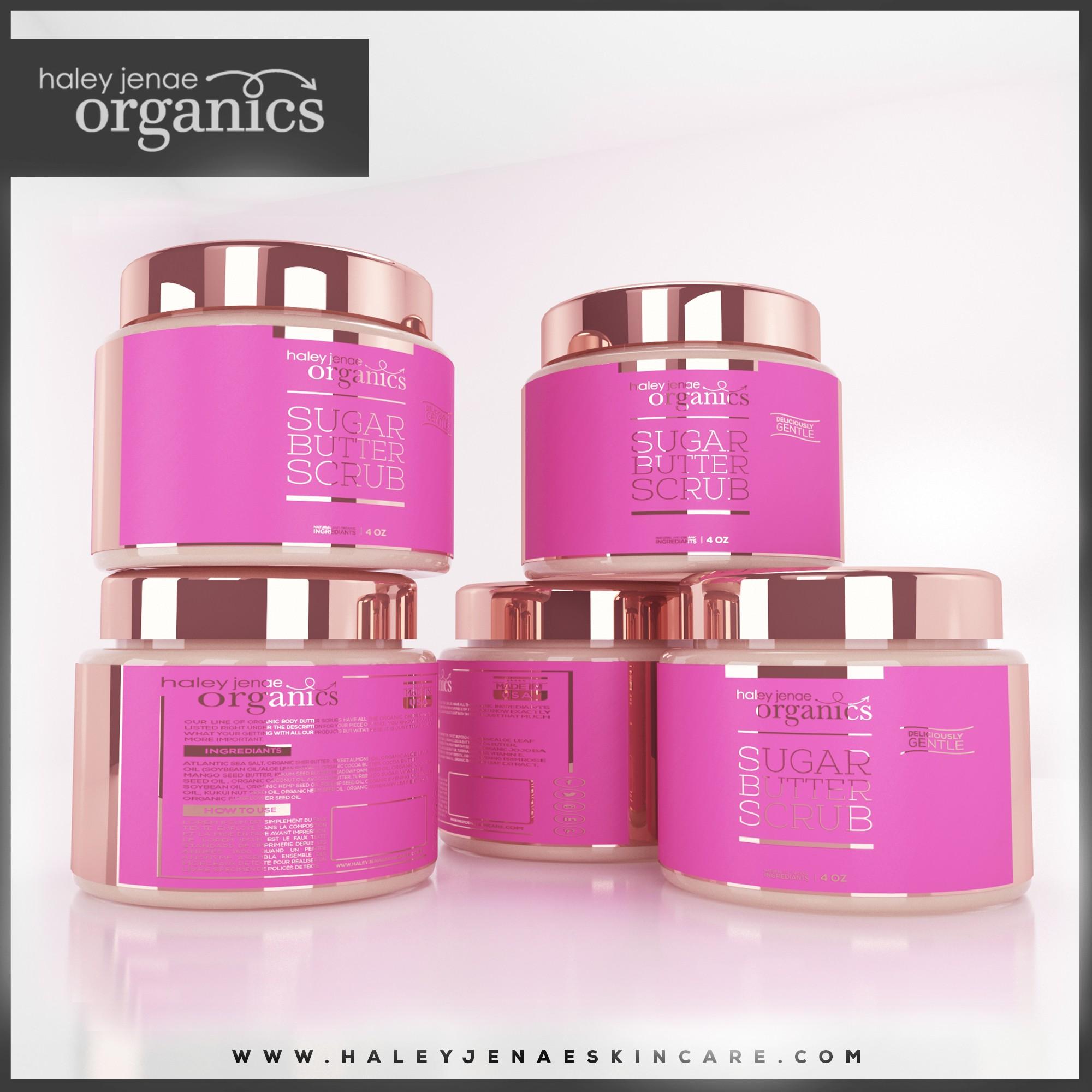 Create a modern twist for an organic skincare line for Haley Jenae skincare