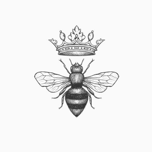Classic logo for Honey beekeeper company