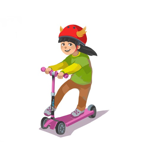 Character design for scooter brand