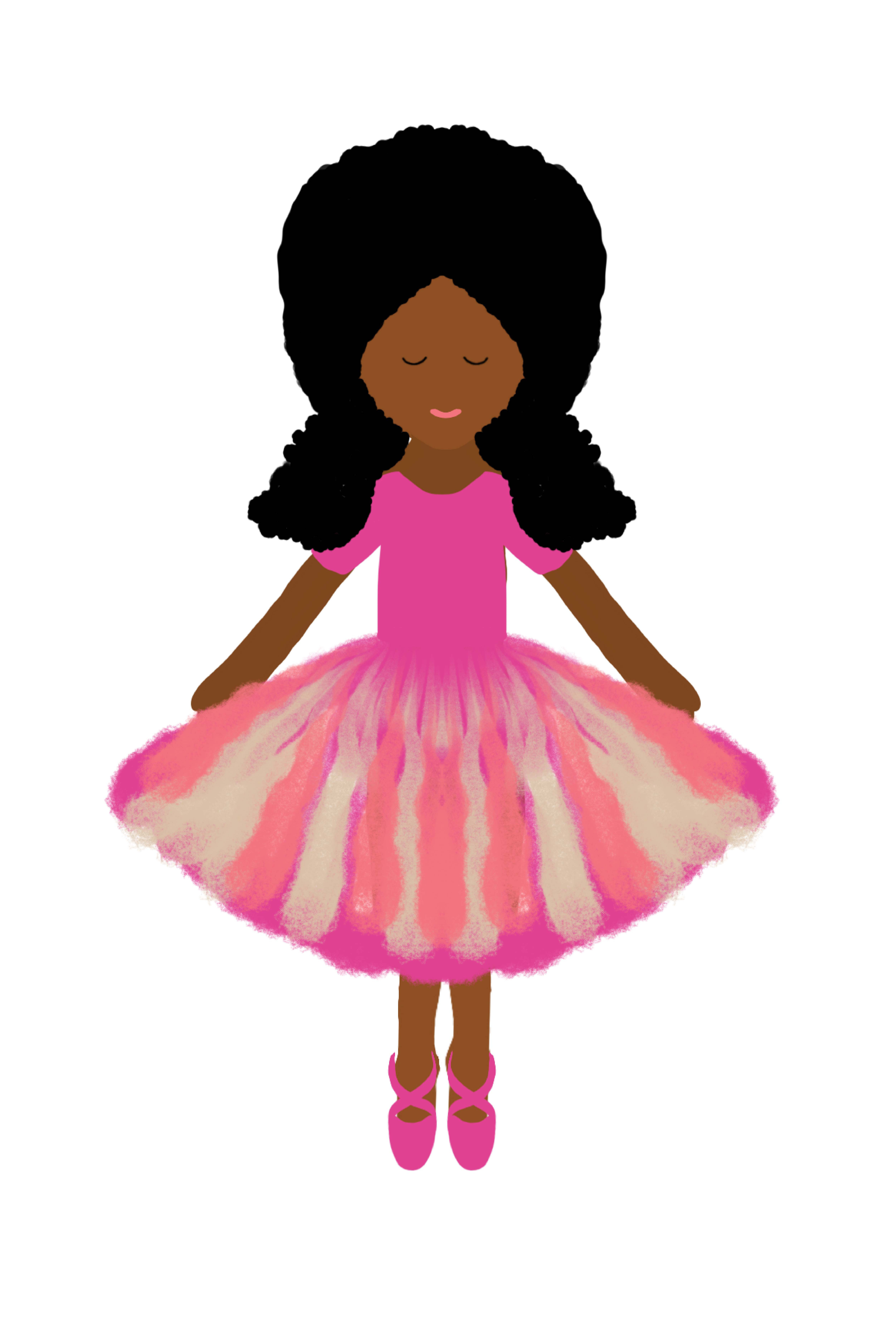 Character Illustrations for Plush Dolls - Boy and Girl(African American)