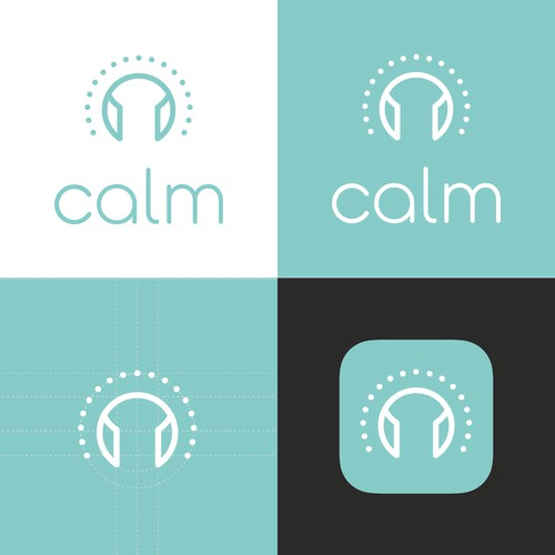 Logo design for a mindfulness podcast app