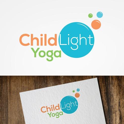 Logo for a childrens yoga class