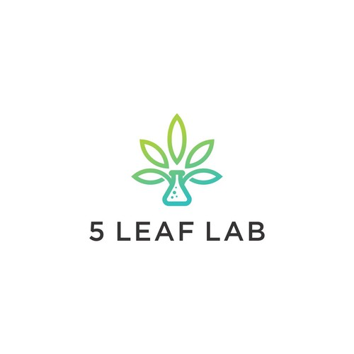 Logo design for 5 leaf lab