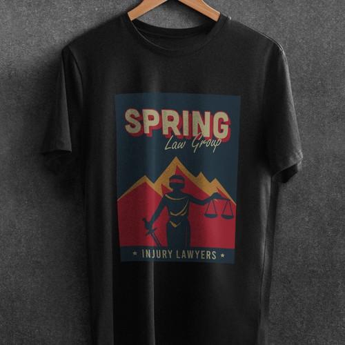 Law Firm T-Shirt Design