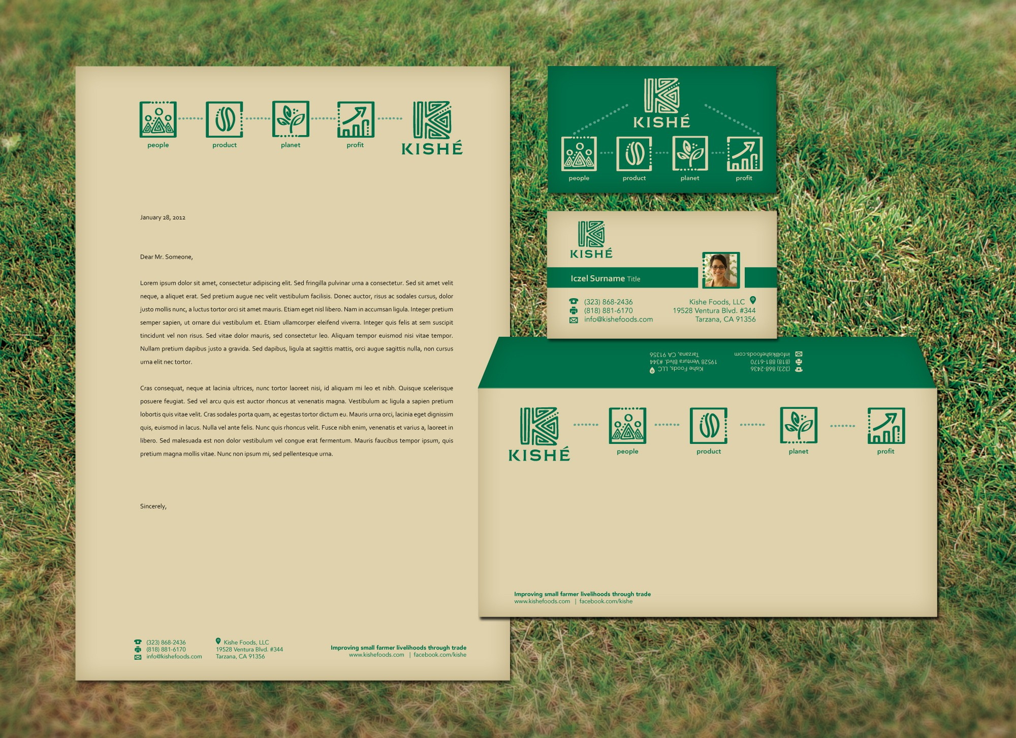 Help Kishe Foods, LLC with new stationery/look