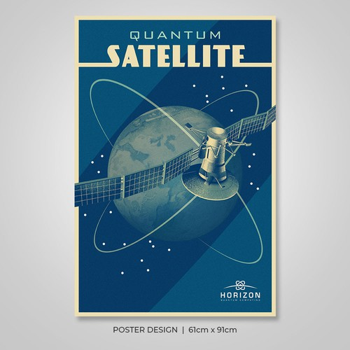 Vintage Poster for Horizon Quantum Computing