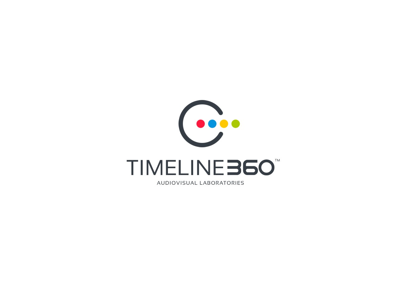 "Logo&card for ""Timeline360 - audiovisual productions"" company"