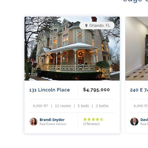 Real Estate Listing Website design