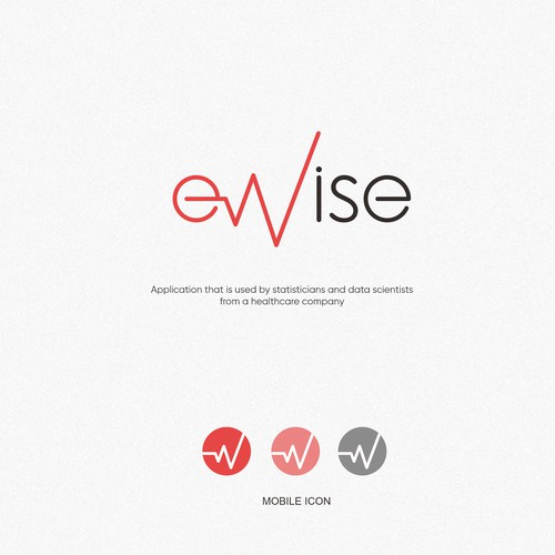 eWise - Logo for a web application used in healthcare domain
