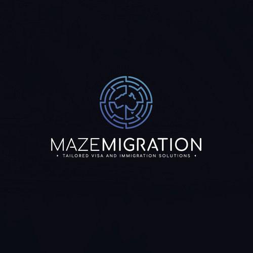 Sleek Logo For Maze Migration