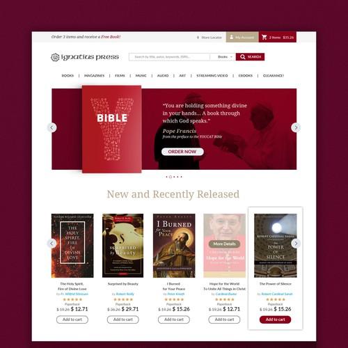 Ignatius Press Home page design