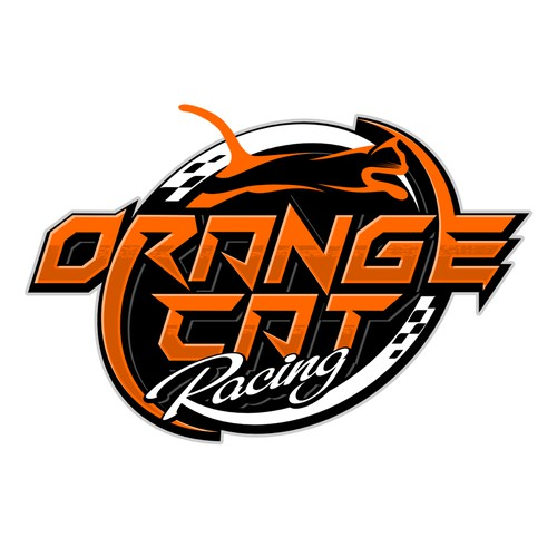 Motorcycle racing club needs orange cat logo