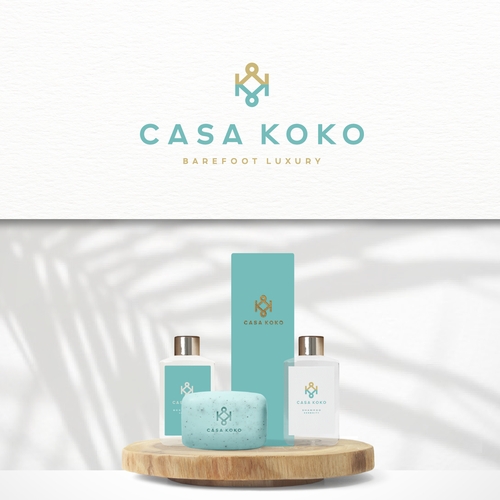 BEACHFRONT LUXURY VILLA LOGO DESIGN