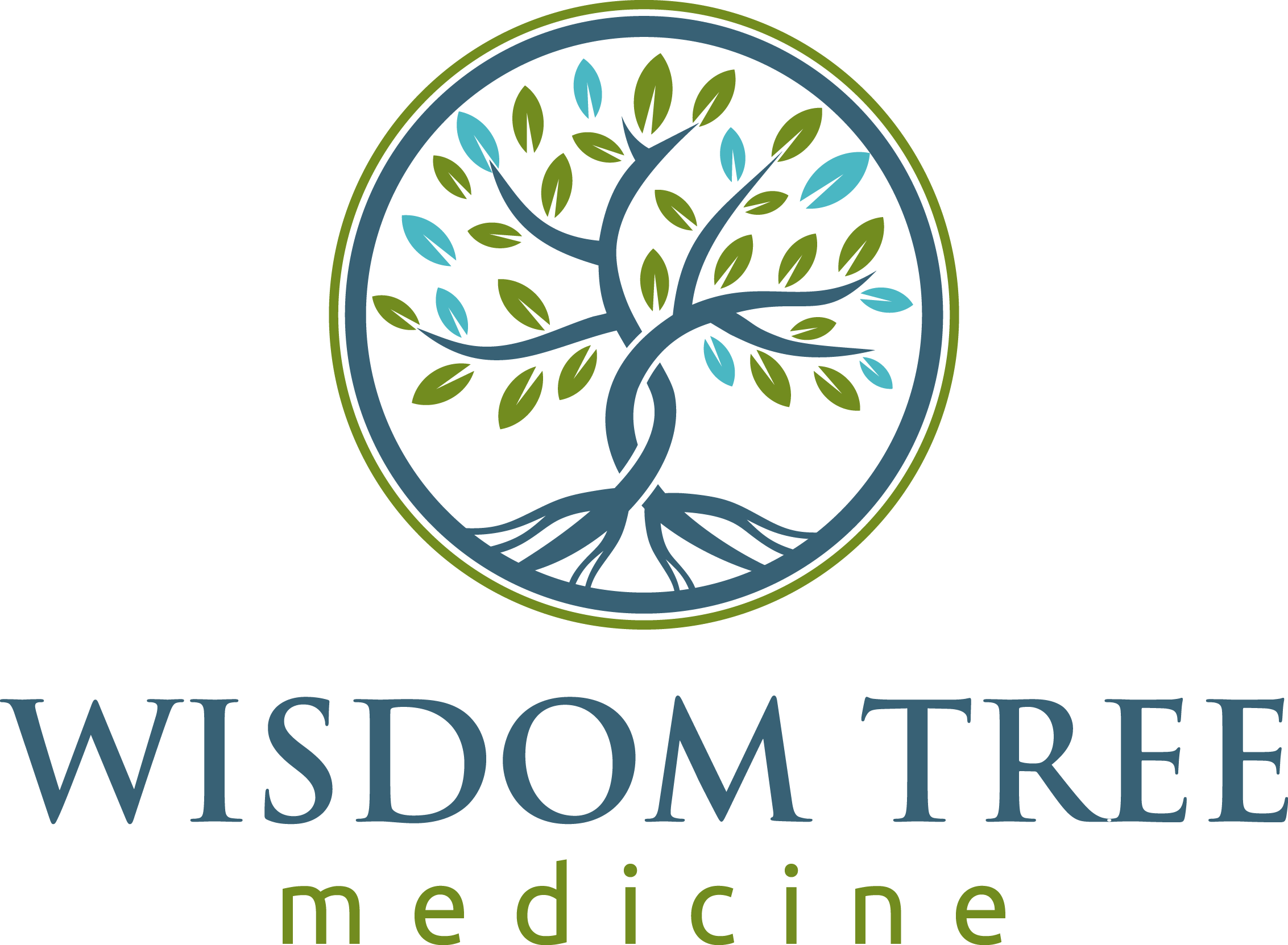 Design a modern organic tree logo for holistic medicine clinic