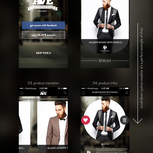 Design an interactive & smart mobile shopping app for fashion discovery