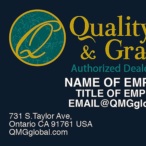 Quality Marble and Granite Business Card