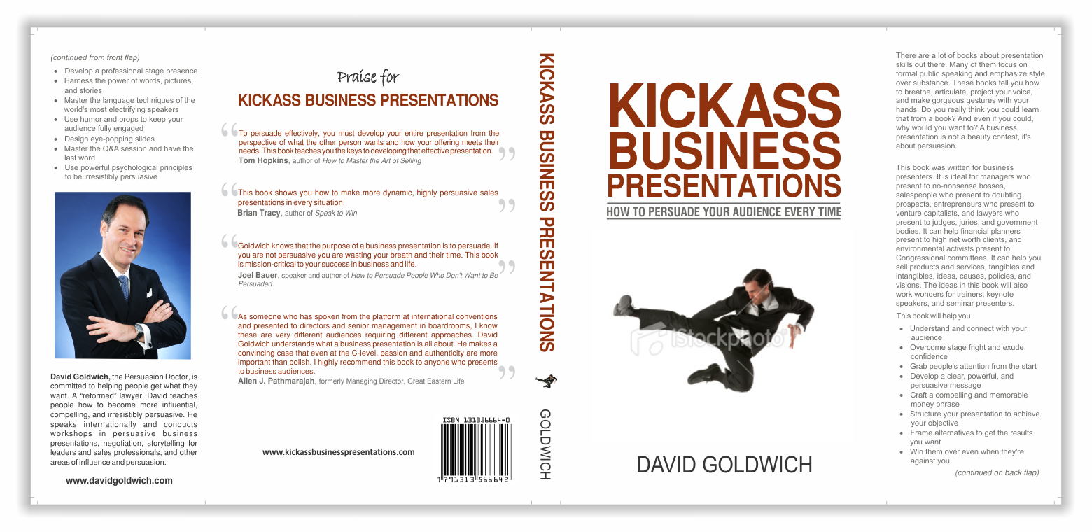 Business speaker needs a new book cover