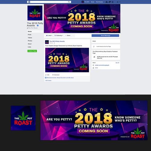 Award function facebook cover design