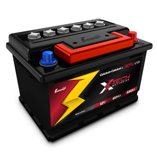 Xtech Battery label..