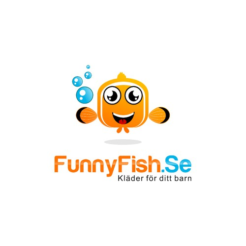 FunnyFish.Se store with cool kids clothes needs a logo