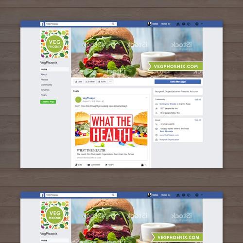 VegPhoenix Facebook cover and profile