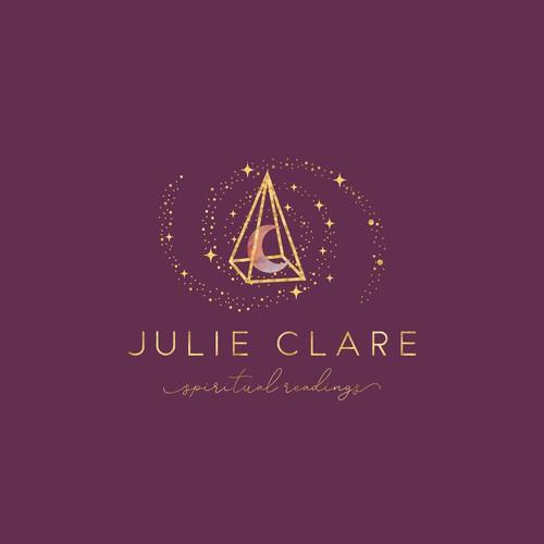 JULIE CLARE Spiritual Readings Logo Design