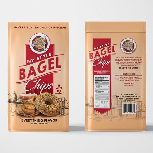 Bagel Chips packaging Design