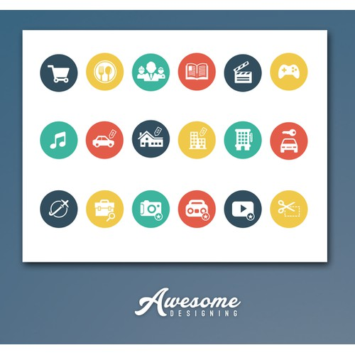 Design icons for an innovative social platform