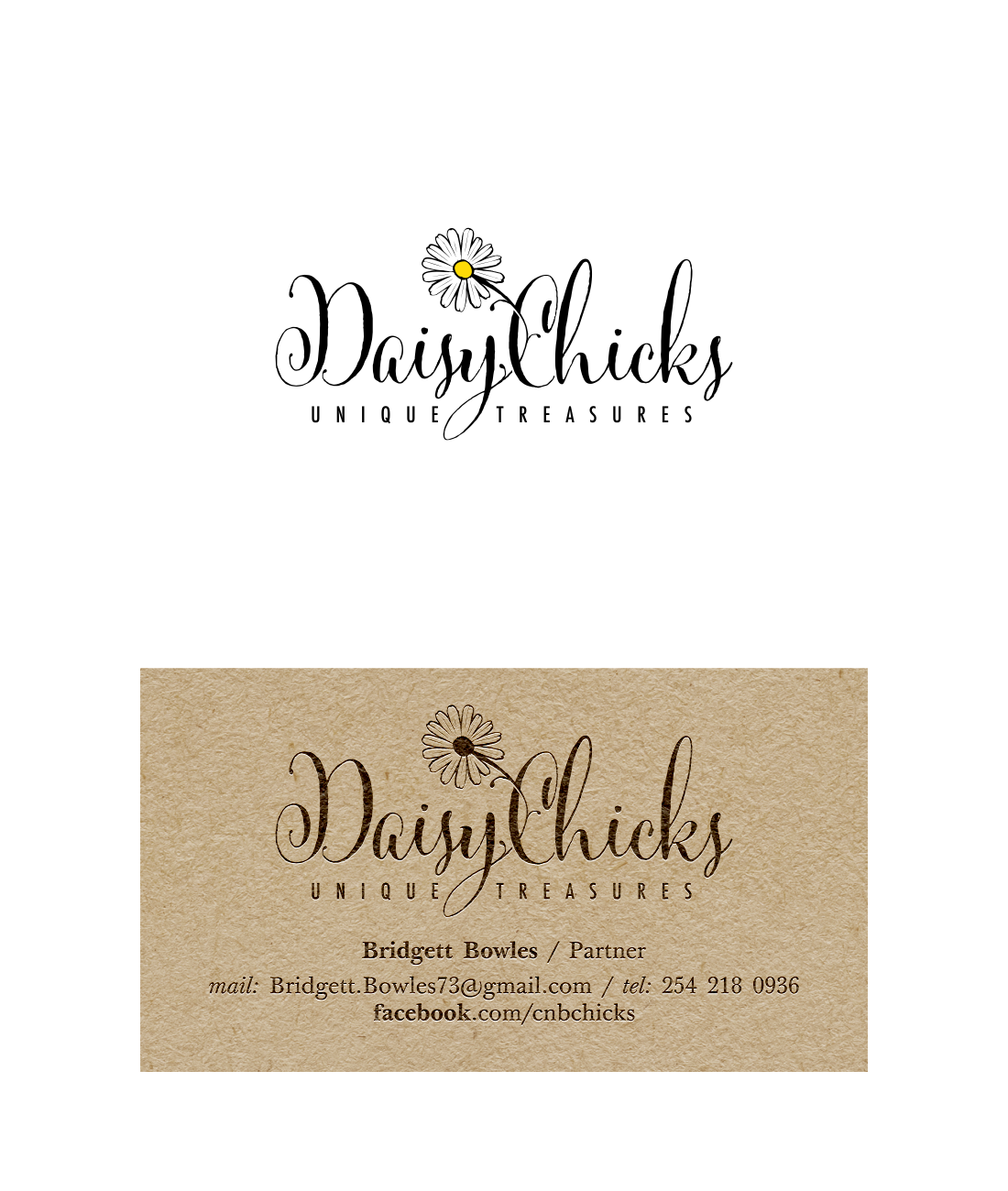 Design a logo and business card for Daisy Chicks