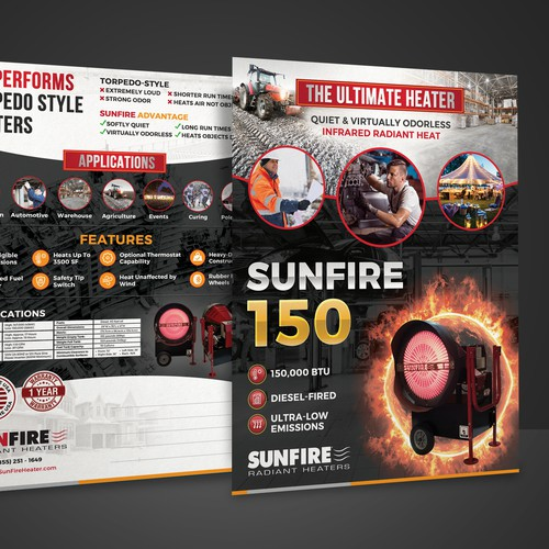 Double-Sided Flyer for Sunfire Radiant Heaters