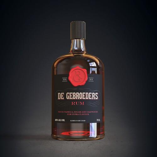 Rum bottle label design