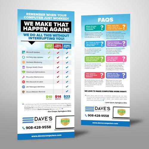 Create Computer Service Rackcard Flyer