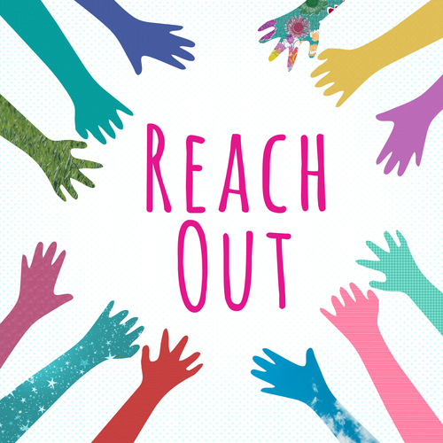 Create a Theatre Poster/Playbill cover for a new play called REACH OUT!