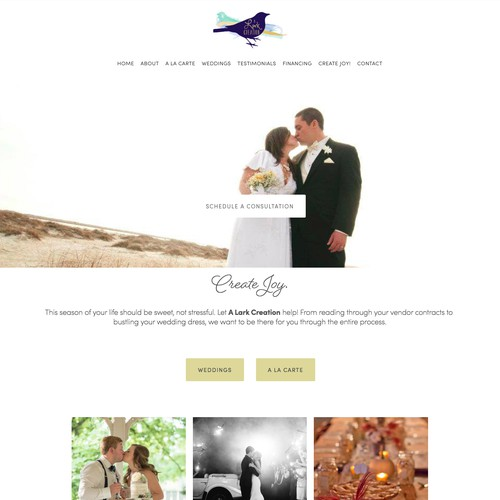 Squarespace Web Design Wedding Planner Site