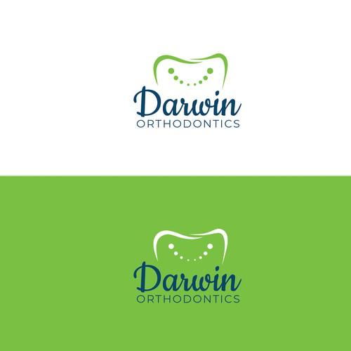 Clean logo study for Darwin Orthodontics