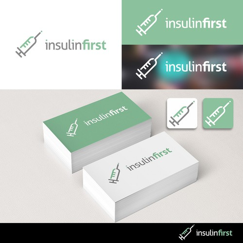Logo design for InsulinFirst a blog about Diabetes