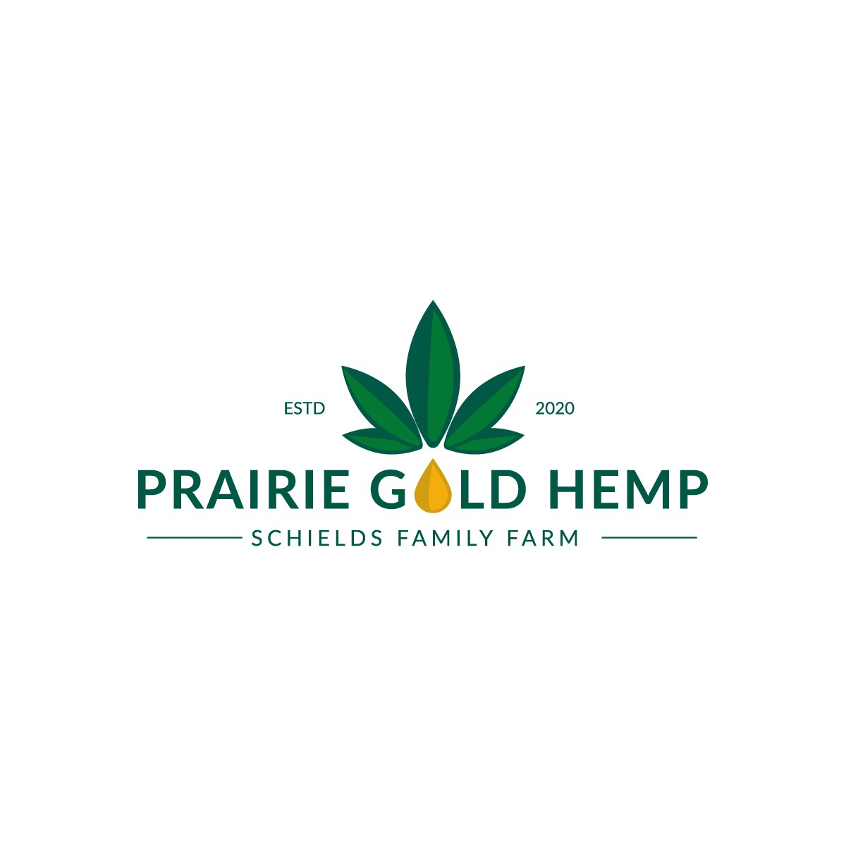 Prairie Gold Hemp Logo Design