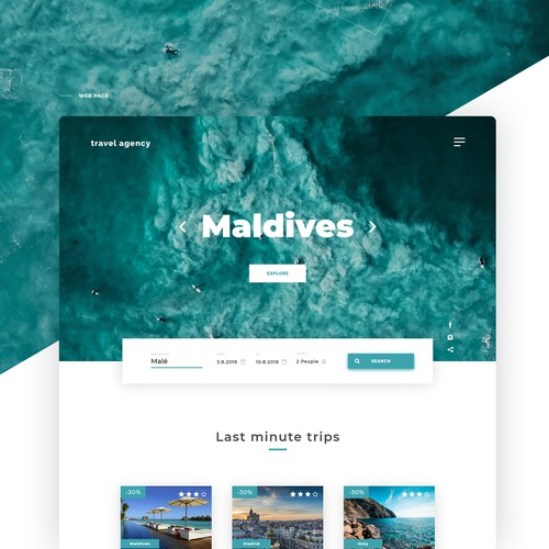 Travel Agency | Web desing concept
