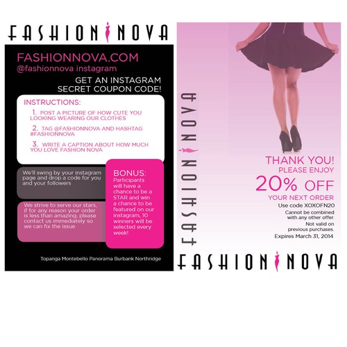 Create a winning flyer for one of the hottest women's online fashion retailer